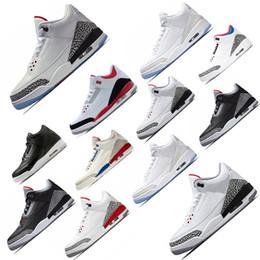 forro de tenis Rebajas Venta caliente J3 hombres zapatos de baloncesto 3 Vuelo Internacional EE. UU. Katrina Tinker JTH Free Throw Line blanco Negro Cemento deportivo 41-47