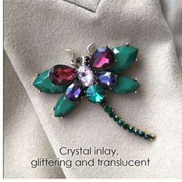 bijoux emanco Promotion EManco 3 Couleurs Mignon Animal Insecte Libellule Broches Broches pour Femmes Bleu Cristal Broche Vêtements Accessoires De Mode Bijoux
