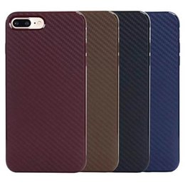 Caso do carbono do iphone 5s on-line-Fibra de carbono macio tpu tampa traseira case para iphone x 8 7 6 s plus 5S se magro telefone celular protetor