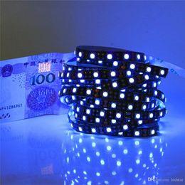 Wholesale Led Uv Light Flat - Waterproof Non-waterproof 5M UV Uv LED strip 395nm 5050 SMD Purple 300 LED Flex Strip Light 12V