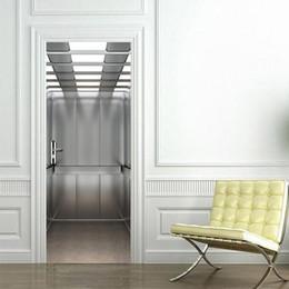2019 ascenseurs Ascenseur Porte Autocollants Elevatoar Étanche Salon Chambre Ascenseur Porte Papier Peint Auto-Adhésif Art Stickers Muraux 3D Décor promotion ascenseurs