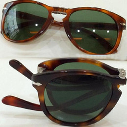 Wholesale Italian Designer Sunglasses - Original Persol sunglasses po 714 series Italian designer folding style glasses unique shape top quality UV400 protection eyewear glasses
