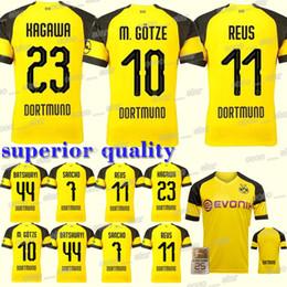 237df25343cd  10 M. GOTZE Borussia Dortmund home Soccer Джерси 18 19 REUS PULISIC Санчо  Филипп Кагава с коротким рукавом футбольная форма