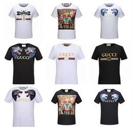 Wholesale Modern Printing - Designer luxury Brand tag men T-shirt Designer common sense Spring Summer red green stripe letter print tshirt Runway Tees Casual Top