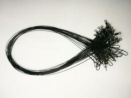 Проволочные прядильщики онлайн-Оптовая Рыбалка провод Spinner лидер ж / поворотный блокировки Оснастки z
