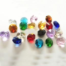 200 adet 14mm 2 Delik Temizle K9 Kristal Cam Sekizgen Boncuk Kristal Avize Lamba Parçaları prizma Dekorasyon nereden
