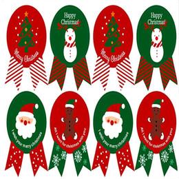 Etichette dolci online-Adesivi per sigillare il Natale Adesivo Kraft di buon Natale Adesivo per torta biscotto Adesivi per dolci da cucina Adesivo per sigillo di partito WX9-976