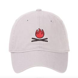 c53c9664fcfdb 2018 Hot Selling flame Men Women Cartoon embroidery Fire Dad Hat Baseball  Cap Polo Style Fashion Unisex Hip-hop snapback Cap Hat