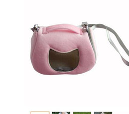 Wholesale Hutch Cage - factory directPortable Small Pet Hamster Chinchilla Carrier Rabbit guinea-pig Nest Cage Shoulder Bag Mesh Carriers Pet Supplies II-388