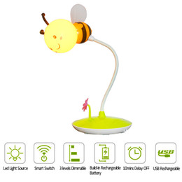 Wholesale Touch Lamps For Kids - Touch Dimmable Led Night Light DC 5V USB Rechargeable Bedside Lamp Baby Children Kids Gift for Bedroom Living Room