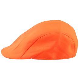 Chapéus alaranjados do golfe on-line-Doce cor Gatsby Cap Ivy Hat Golf condução verão Sun Flat Cabbie Newsboy, laranja