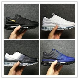 Wholesale Maxs Shoes - Cheap maxs 2017 Men running shoes Hot selling Original quality maxes 2017 cushion sneaker for mens Newest release sneaker 40-46