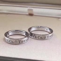 segni formulati Sconti Infinity 316L Anello in acciaio di titanio con anello a forma di anello di fascino con parole vuote e diamanti per regalo di goccia di gioielli di moda per donna PS6465
