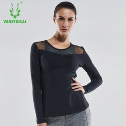 Wholesale Women Tights Winter Wear - Sports Fitness Clothes Women Winter Tights Long Sleeve Quick Dry Professional Yoga Wear Tops Gymnasiums Running Training Wear