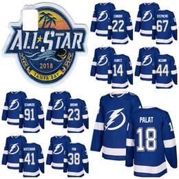 91 Steven Stamkos 2018 All Stars Mens Tampa Bay Lightning Hockey Jersey 67  Mitchell Stephens 14 Chris Kunitz 44 Tye McGinn Ondrej Palat b0d473ca5
