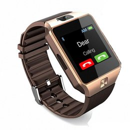 2019 telefoni cellulari Smartwatch impermeabile DZ09 Wearable Smartwatch supporto fotocamera sveglia frequenza cardiaca SIM TF Card Bluetooth Phone Guarda Android IOS Iphone telefoni cellulari economici