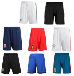 Wholesale Black Red Pants - Free shipping World cup 2018 football equipment A+++pants Italy Russia Argentina Spain Mexico Belgium Colombia Japan DE soccer shorts