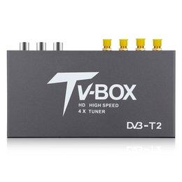 receptor tuner tv carro Desconto Car TV CAIXA de Carro HD DVB-T2 Móvel Caixa de TV Digital Receptor 4X Sintonizador de Alta Velocidade de Varredura Automática de Idiomas OSD para Carro 12 v 24 v