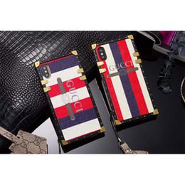 Canada Cas de téléphone de marque de luxe pour IPhone XR XS MAX 7 8 8 plus 6 6 plus 6S PU en cuir Back Case Cover avec une lanière supplier ipad mini folio covers Offre