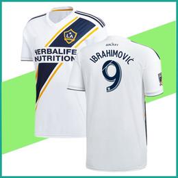 Wholesale Galaxy Grey - new Ibrahimovic la galaxy jersey home white 2018 zlatan galaxy soccer jersey LA galaxy zlatan ALESSNDRINI J.DOS SANTOS GIOVANI men shirt