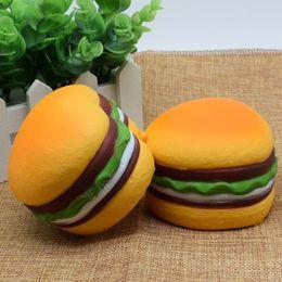 Wholesale Simulation Food - Jumbo Squishies Hamburger Slow Rising Squishy Scented Heart Shaped Toys Food Big Bun Simulation Kids Free Shipping