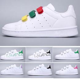new product 2d39e b3660 2019 chaussures pour enfants Adidas Stan Smith Superstar enfants chaussures  garçons filles baskets 2018 printemps automne