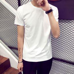 Wholesale Men Wholesale V Necks - Men V round neck T Shirt Short Sleeve lots color Plus size T Shirts Retail tees polos shirts Free shipping