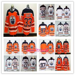 ce5aa6646 2018 Edmonton Oiler 97 Jerseys 99 Wayne Gretzky 33 Talbot 29 Leon Draisaitl  27 Milan Lucic 93 Ryan Nugent-Hopkins Hockey Jerseys