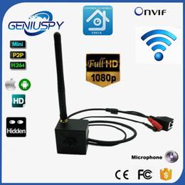 Беспроводная проводная камера cctv онлайн-Беспроводная камера Wifi IP 1080P Mini Wifi IP-Камера 2.0 мегапикселей 3.7 мм объектив-обскура H. 264 Onvif безопасности Wifi камеры видеонаблюдения аудио