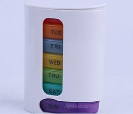Pillen tablet-box online-Hohe Qualität Tragbare Medizin Wöchentliche Regenbogen Lagerung Pille 7 Tag Tablet Sorter Box Container Fall Organizer Gesundheitswesen heißer einzelteil