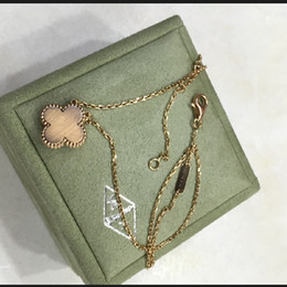Wholesale Mother Pearl Jewellery - V necklace Paris AU750 clover pendant necklace love expend glory riches V party Titanium necklaces 1906 Mother of Pearl Jewellery