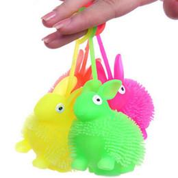 2017 gomma coniglio coniglietto palla rimbalzante flash sicuro giocattoli rimbalzante coniglio luminoso regalo per bambini da