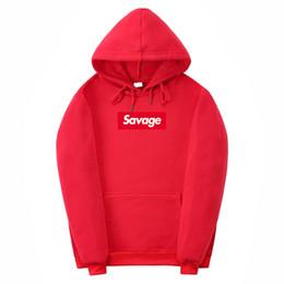 20315db2912082 Mens Hoodies Letter Print SAVAGE Street Wear Hoodies Fear Of God Hoodie  Sweatshirt Men Hip HopTops S-XXL