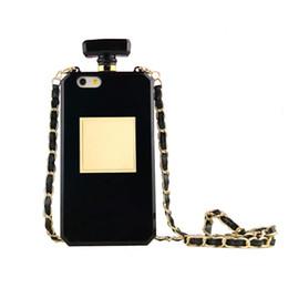 Profumo tpu online-Custodia rigida di lusso della bottiglia di TPU della bottiglia di profumo per iPhoneX XR XS MAX 7 più la catena della borsa 8Plus cellPhone indietro copre