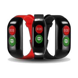 Android relojes inteligentes wifi online-Smart Voice y SOS Key Alarm Phone Watch GP WIFI Position Smart Watch Aged Health recordatorio Presión arterial Heart Rate Monitor Smartwatch