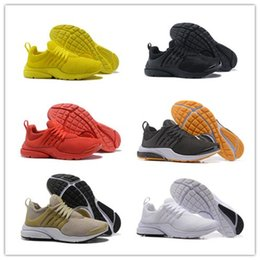 Wholesale Red Walking - 2018 Running Shoes PRESTO BR QS Breathe Yellow Black White Mens Women ports Shoe Sneakers Walking designer shoes Size 36-46