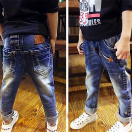 Enfants portant des jeans en Ligne-Retail, jeans garçon pour enfants portant des jeans à la mode et de haute qualité, jeans déchirés pour garçons, âgés de 3 à 14 ans