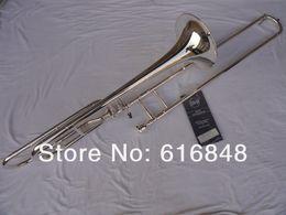 2019 trombón Bach 42BO Plateó la Marca Buena Calidad Bb / F Tono Sandhi Tenor Trombone Instrumento de Música Para Estudiantes Envío Gratis