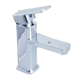 Wholesale Faucet Levers - Modern Style Basin Mixer Tap Single Lever Chrome Bathroom Sink Faucet
