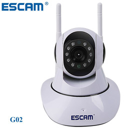 Wholesale Ptz Onvif - ESCAM G02 PTZ Wifi Camera Dual Antenna HD 720P Pan Tilt WiFi IP IR Camera Support ONVIF Max Up to 128GB Video Monitor