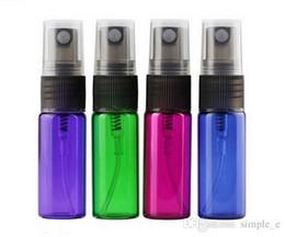 Bottiglie di vetro verde spray all'ingrosso online-5 ml 1/6 oz di vetro fragrante liquido nebbia fine profumo atomizzatore spray riutilizzabile bottiglia vuota verde rosa prezzo di fabbrica all'ingrosso DHL LIBERO