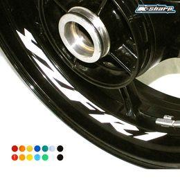 Wholesale yamaha wheels - MTKRACING Free shipping 8 X CUSTOM INNER RIM DECALS WHEEL Reflective STICKERS STRIPES for YAMAHA YZF R1