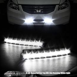 Canada Universal DRL 2 Pcs DC 12 V 8 W 8 LED Voiture de Jour de Conduite de Course à Pied de Lumière FOG Lampe Super Blanc Couleur Étanche Externe Led Car Styling Offre