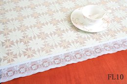 Wholesale Tablecloth Cheap Wedding - PVC Classic Design Lace exquisite Wed Party Decorative Tablecloth Vintage Style Rectangular tablecloth colour:F9~F15 ,cheap and fine.