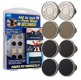 Kit de costura envío gratis online-Botón Ajuste perfecto para cualquier pantalón de jeans Aumente Reduzca la cintura Reemplace la materia de metal 8pcs / pack Conveniente kit de reparación de costura para interiores Envío gratis