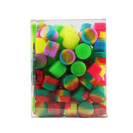100 adet / grup Dabs için 2 ml mini karışık renk silikon konteyner Yuvarlak Şekil Silikon Konteynerler balmumu ile PVC kutu ve dab aracı cheap assorted tools nereden çeşitli araçlar tedarikçiler