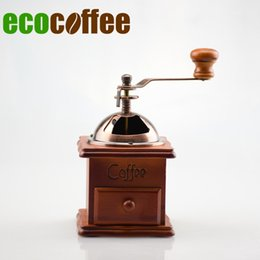 Wholesale Coffee Grinder Free Shipping - 1pc Free Shipping Eco Coffee Manual Grinder Bean Mills Food Coffee Grinders Stocked Eco-friendly New Arrival