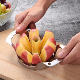 Wholesale Easy Slicer - Apple Slicer Divider Corer Pear Cutter Fruit Vegetable Tools Easy Cutting Apples Stainless Steel Kitchen Accessories OOA4448