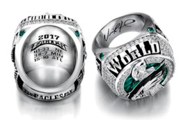 Wholesale white fans - Philadelphia 2017 2018 Eagle s World 52th Championship Football Ring size 8-14 Fan Gift high quality wholesale Drop Shipping Foles