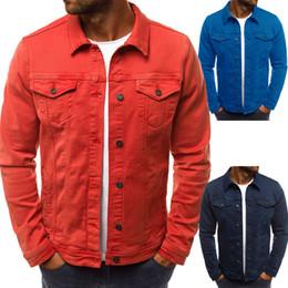 Sola ropa más tamaño online-Chaqueta de mezclilla de los hombres Jeans de moda de alta calidad Chaquetas Slim Fit Casual Streetwear Chaqueta de un solo pecho de la vendimia Jean ropa más el tamaño M-3XL